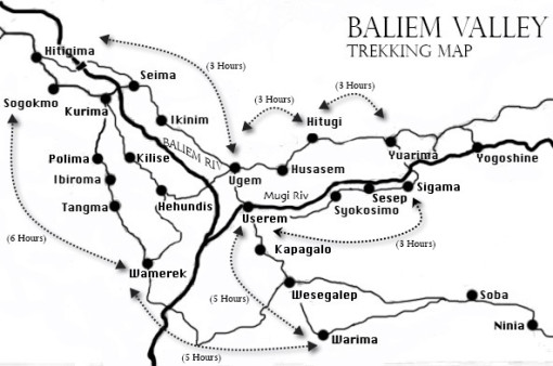 Baliem Valley Trekking Map