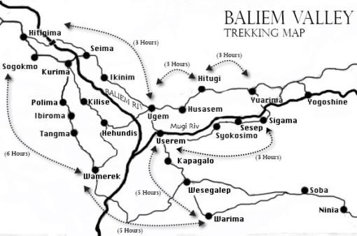 Baliem Valley Trekking Map