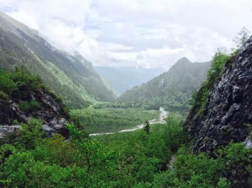 View From Ice Lake, Yubeng, Yunnan Province, China