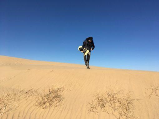 Sandboarding on Imperial Sand Dunes